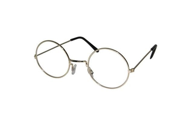 LUNETTE  RONDE OR