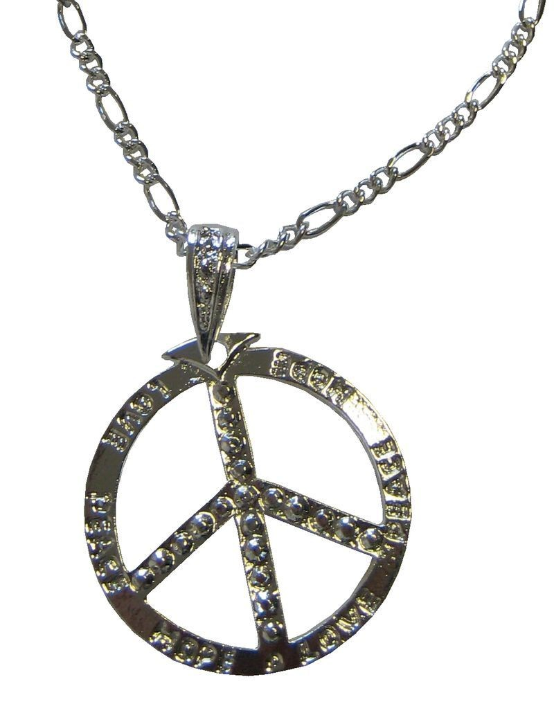COLLIER  METAL ARGENT HIPPIE ADULTE
