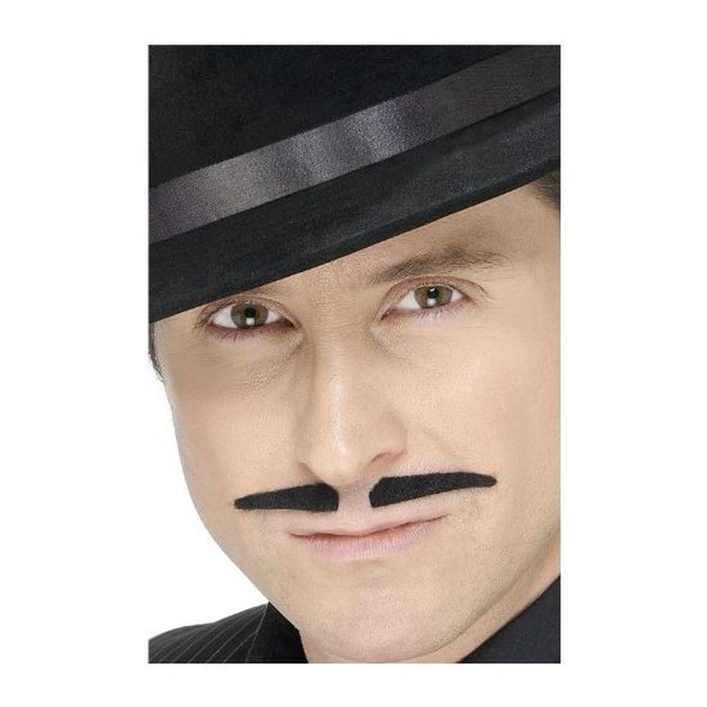 MOUSTACHE NOIRE GANGSTER ADULTE