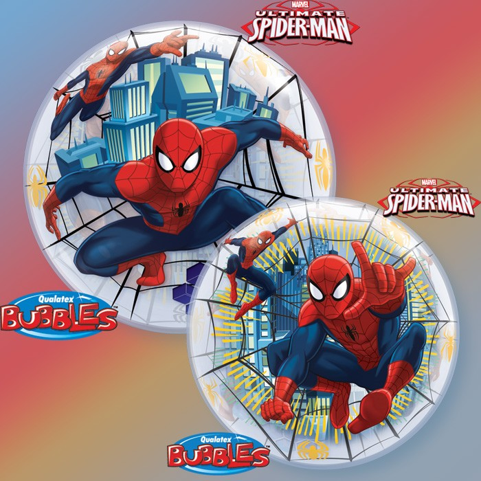 BALLON BUBBLE HELIUM SPIDERMAN