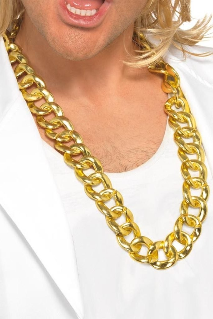 COLLIER BLING BLING OR ADULTE