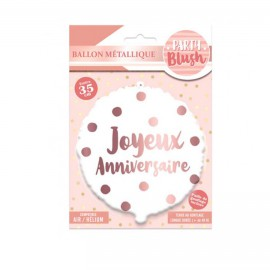 BALLON METALLIQUE PARTY BLUSH