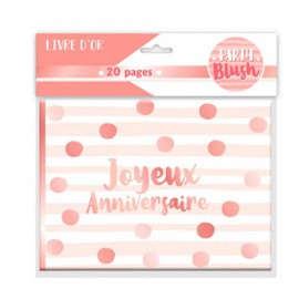 LIVRE D OR ANNIV. PARTY BLUSH