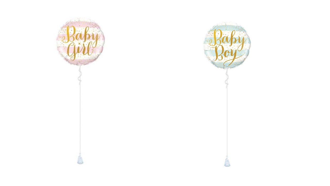 BALLON BABY GIRL ou BOY STRIPES