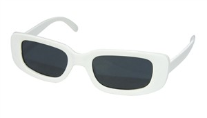 LUNETTES MICHEL POLNAREFF RECTANGLE BLANCHES