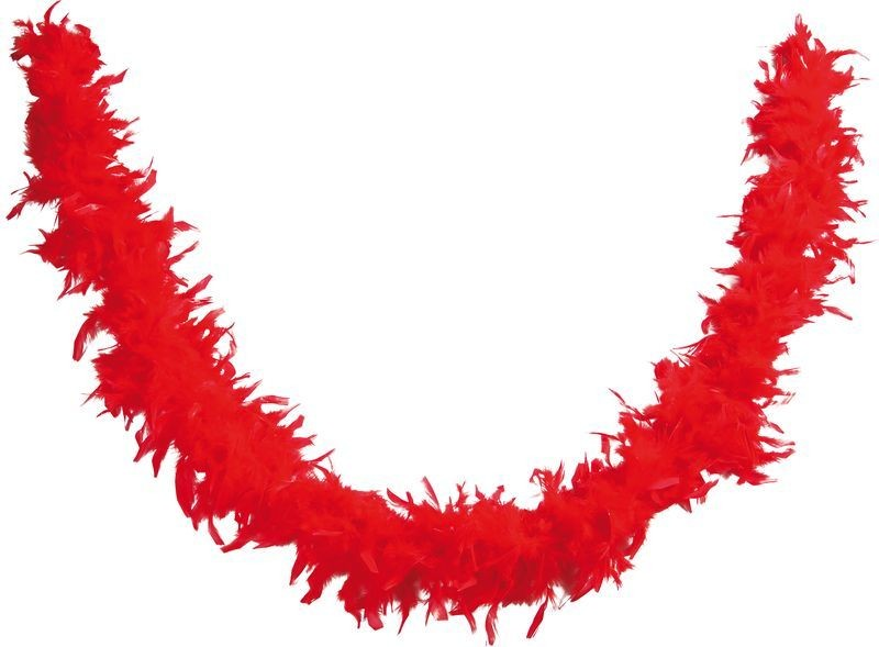 BOA ROUGE  PLUMES 1.80M - 50 GR